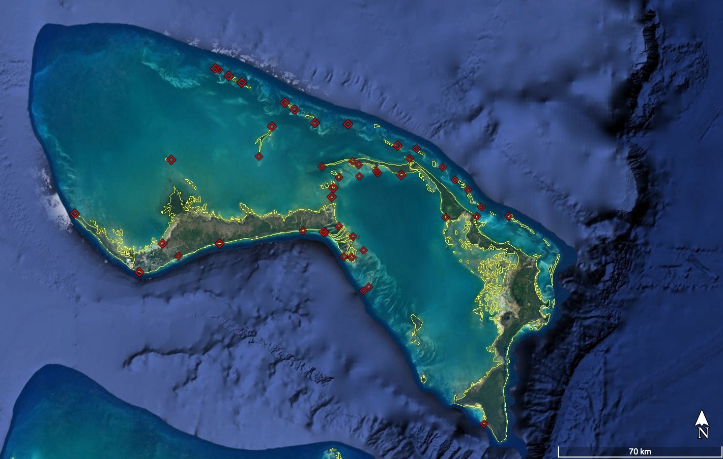 Grand bahama to abaco where do bonefish go to spawn fisheries identifying pre spawning aggregation sites and spawning locations for bonefish around the bahamas 2 identifying key habitats for bonefish larval publicscrutiny Choice Image